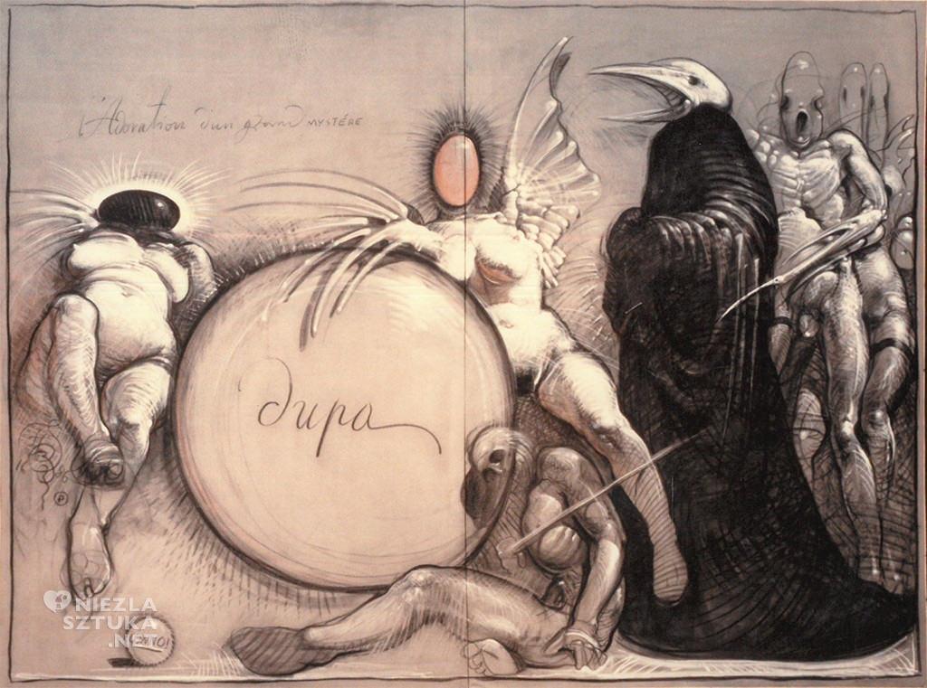 Franciszek Starowieyski - szkic, dzięki uprzejmości żony artysty