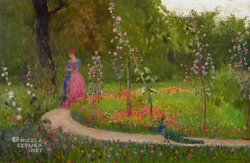 władysław wankie dama i paw w ogrodzie, płock