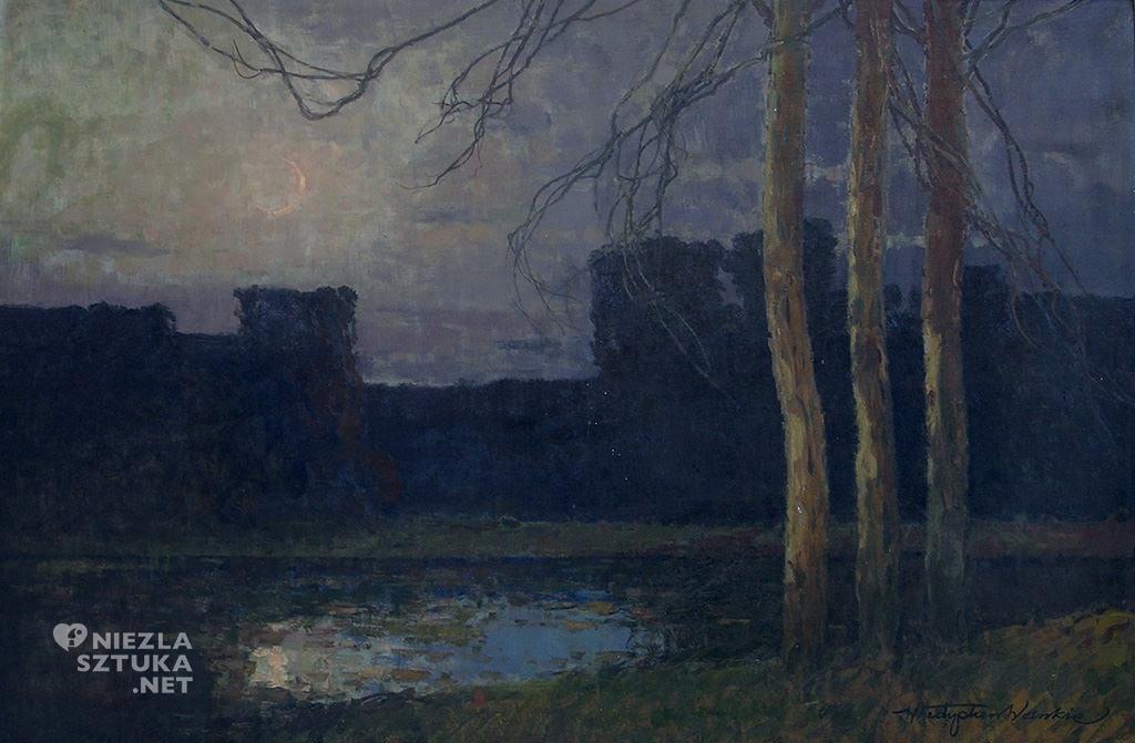 władysław wankie wschód księżyca noc, płock