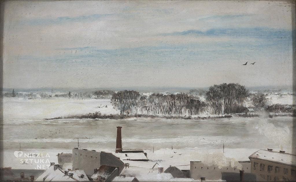 Anna Bilińska-Bohdanowiczowa, Widok z okien konserwatorium, 1877, MNW