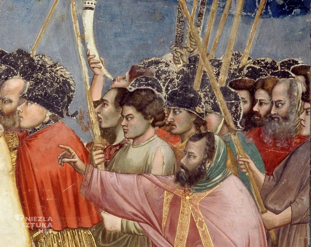 Giotto Pocałunek Judasza fresk
