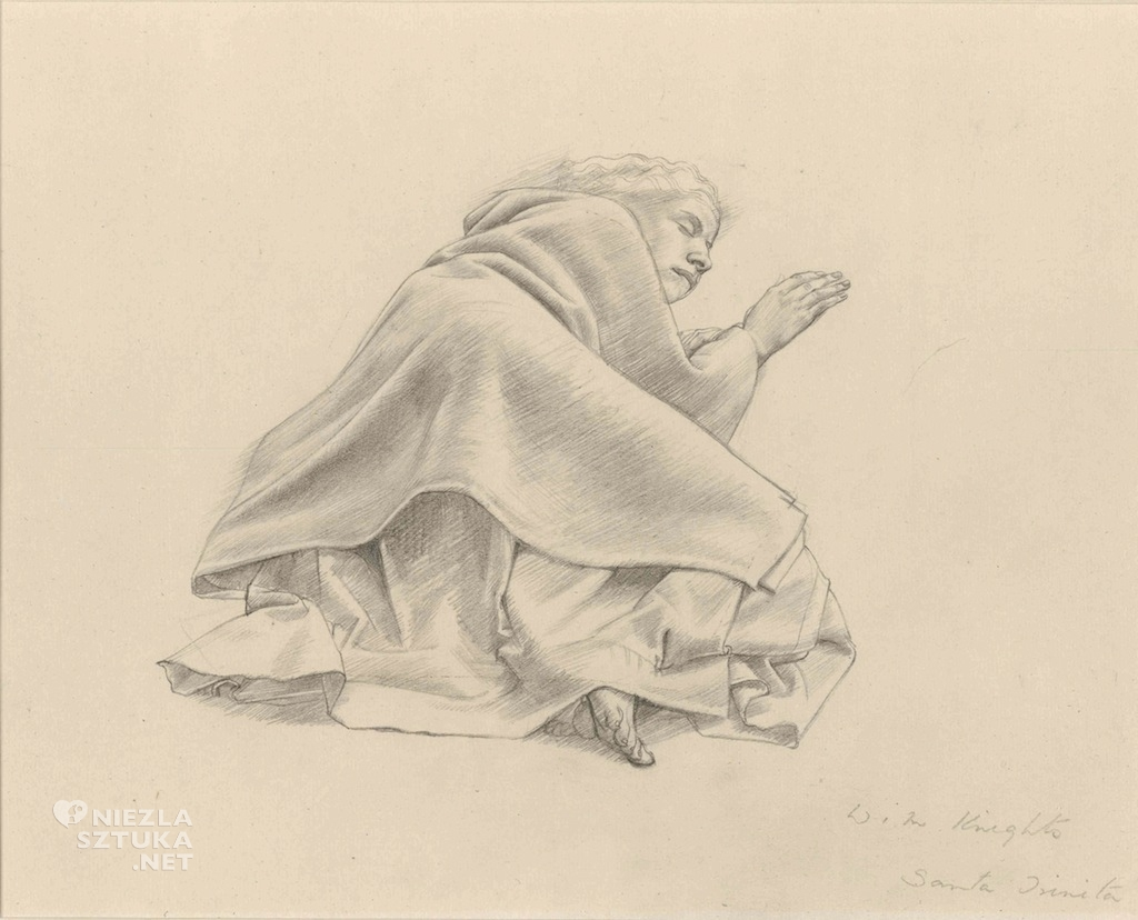 Winifred Knights, Study of a sleeping woman for The Santissima Trinita, c. 1924, Pencil on paper, 19.7 x 25.7 cm, © Trustees of the British Museum. © The Estate of Winifred Knights