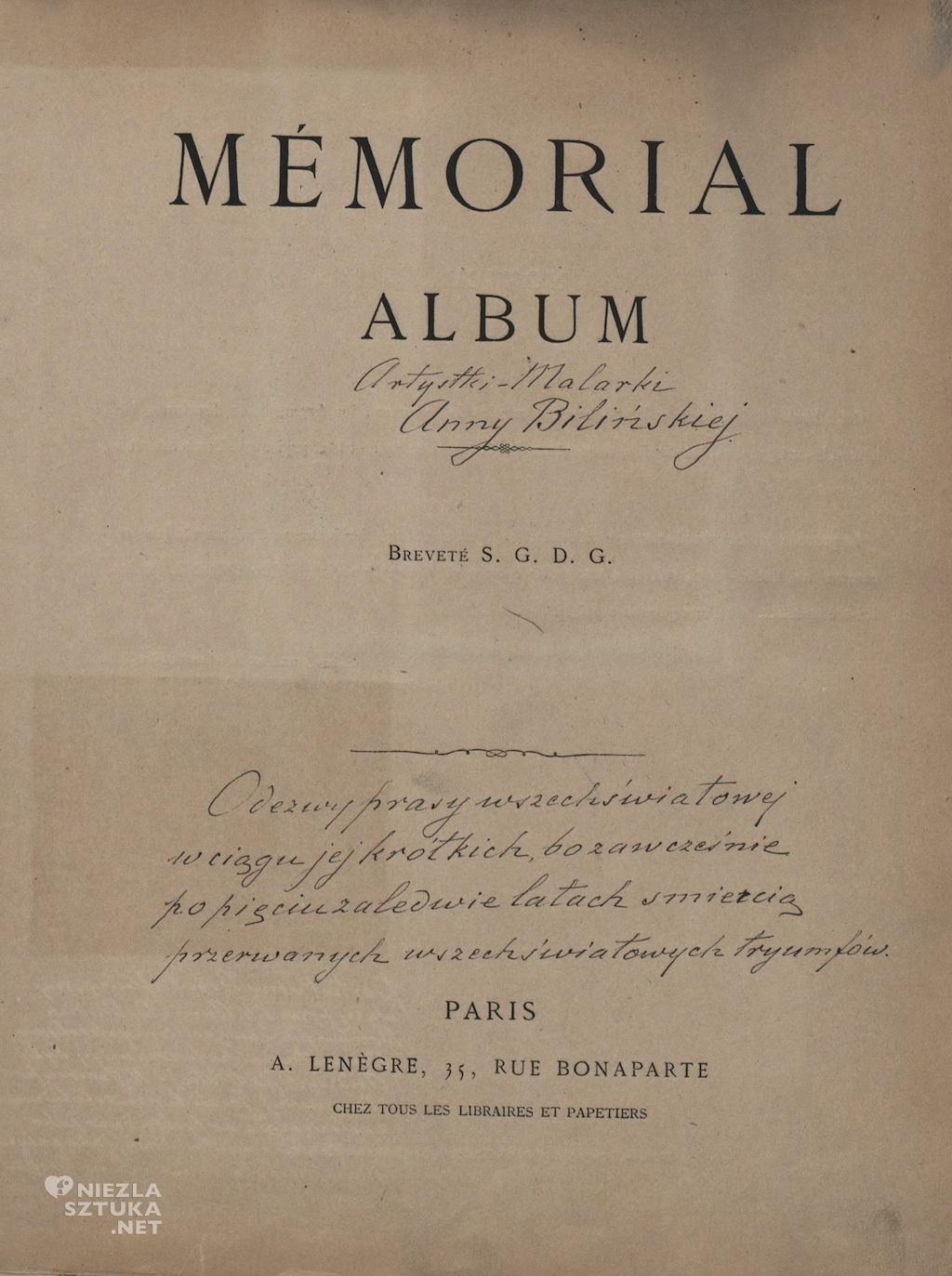 Anna Bilińska Bohdanowiczowa Album Memorial