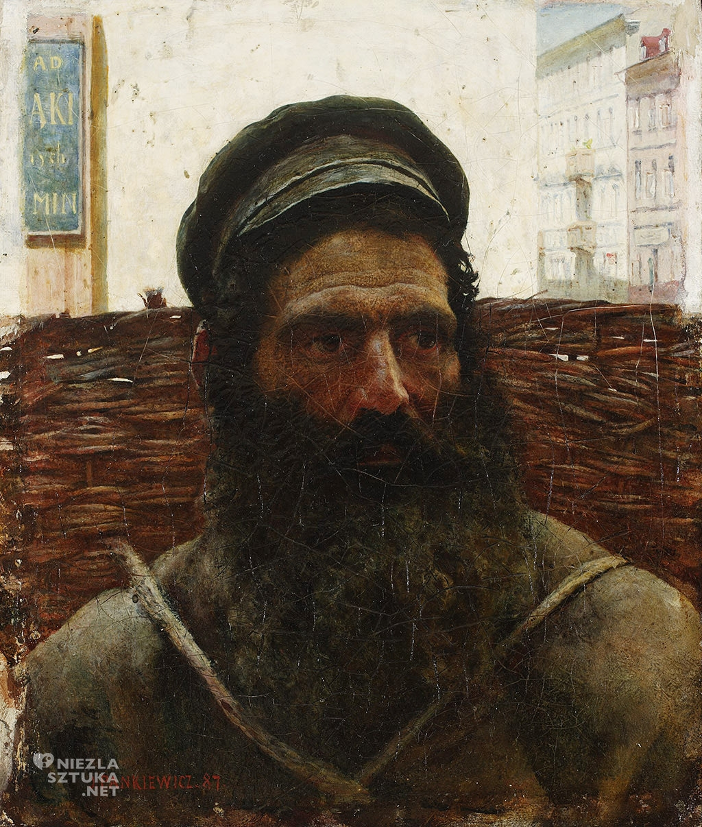 Józef Pankiewicz, Żyd z koszem, 1887, MNW