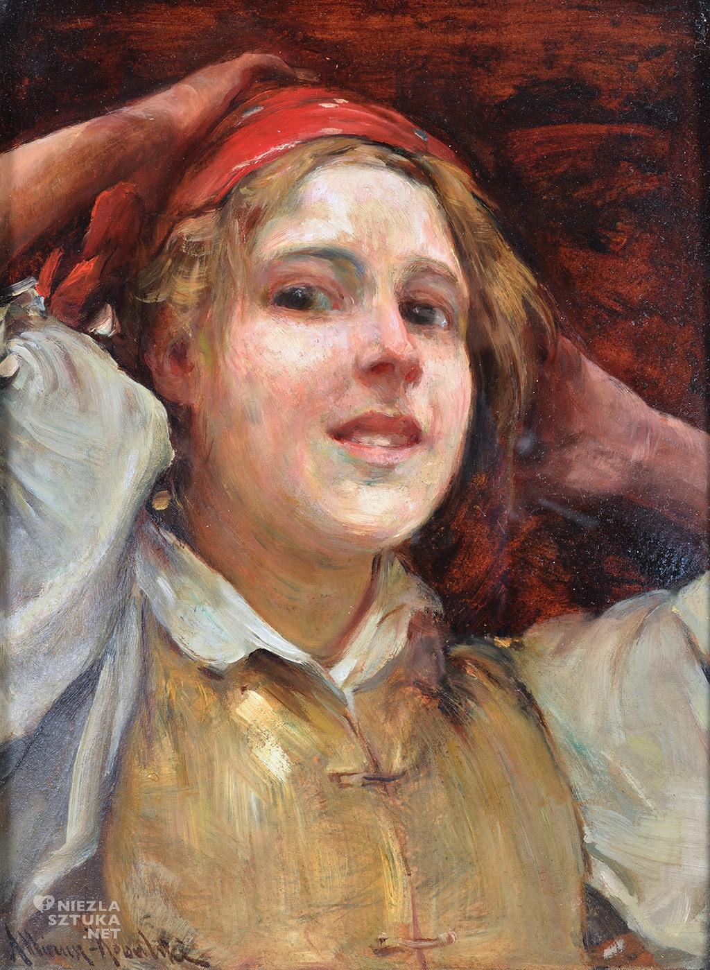 Alfred Wierusz-Kowalski Śmiejąca się dziewczyna