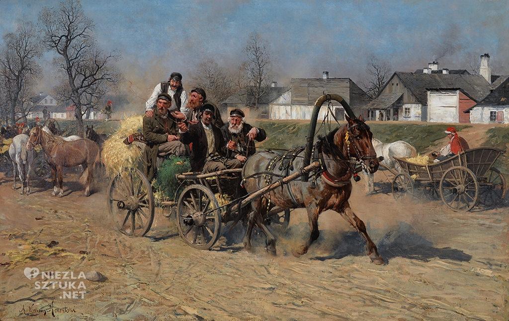 Alfred Wierusz-Kowalski Żydzi wracający z jarmarku
