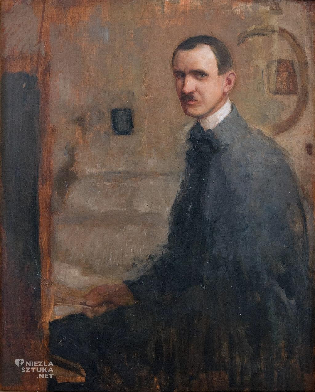 Alfons Karpiński Autoportret | 1907, fot. Barbara Szafrańska, kolekcja Krzysztofa Musiała
