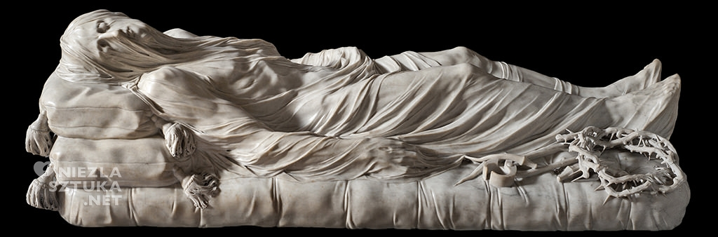 Antonio Corradini, Giuseppe Sanmartino <em>Chrystus spowity całunem</em>, Kaplica Sansevero, Neapol