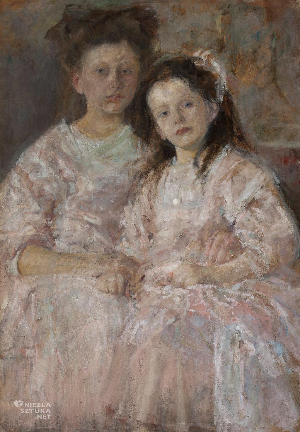 Olga Boznańska Portret dziewczynek Heleny i Władysławy Chmielarczyk