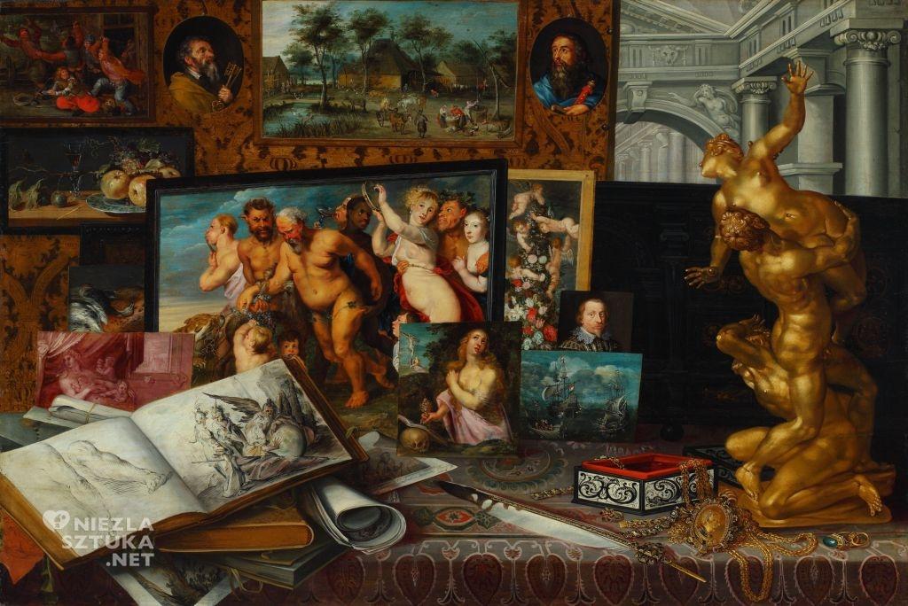 Malarz antwerpski (Etienne de la Hyre?), , <em>Gabinet sztuki królewicza Władysława Zygmunta Wazy</em>, 1626, olej, deska, 72,8 x 105,6 cm, Zamek Królewski w Warszawie