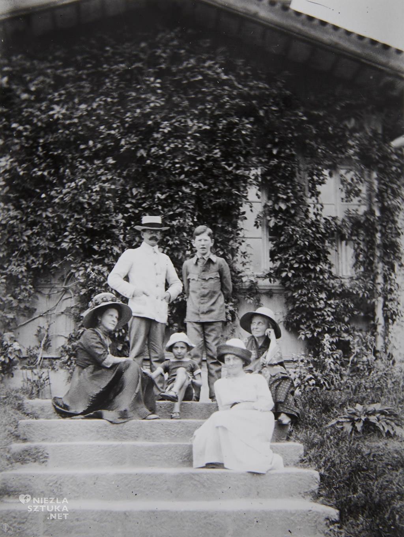 Józef Mehoffer z rodziną