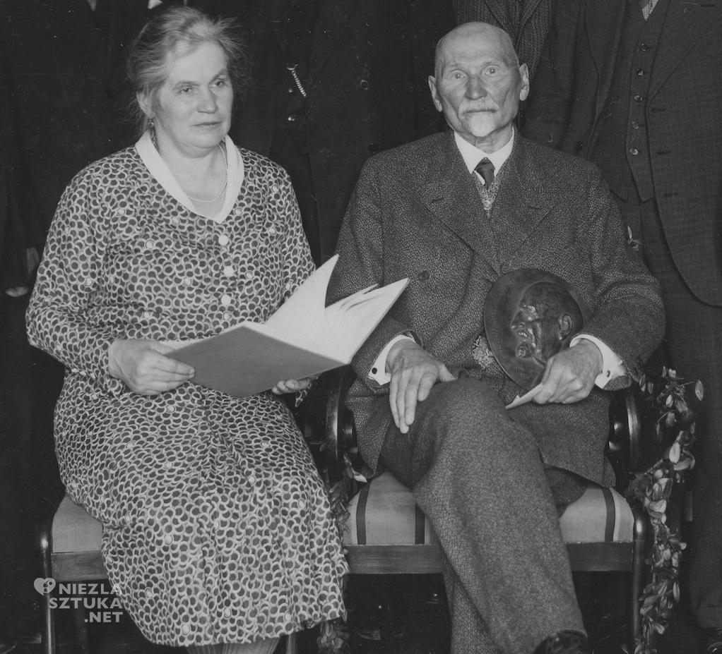 Leon Wyczółkowski z żoną