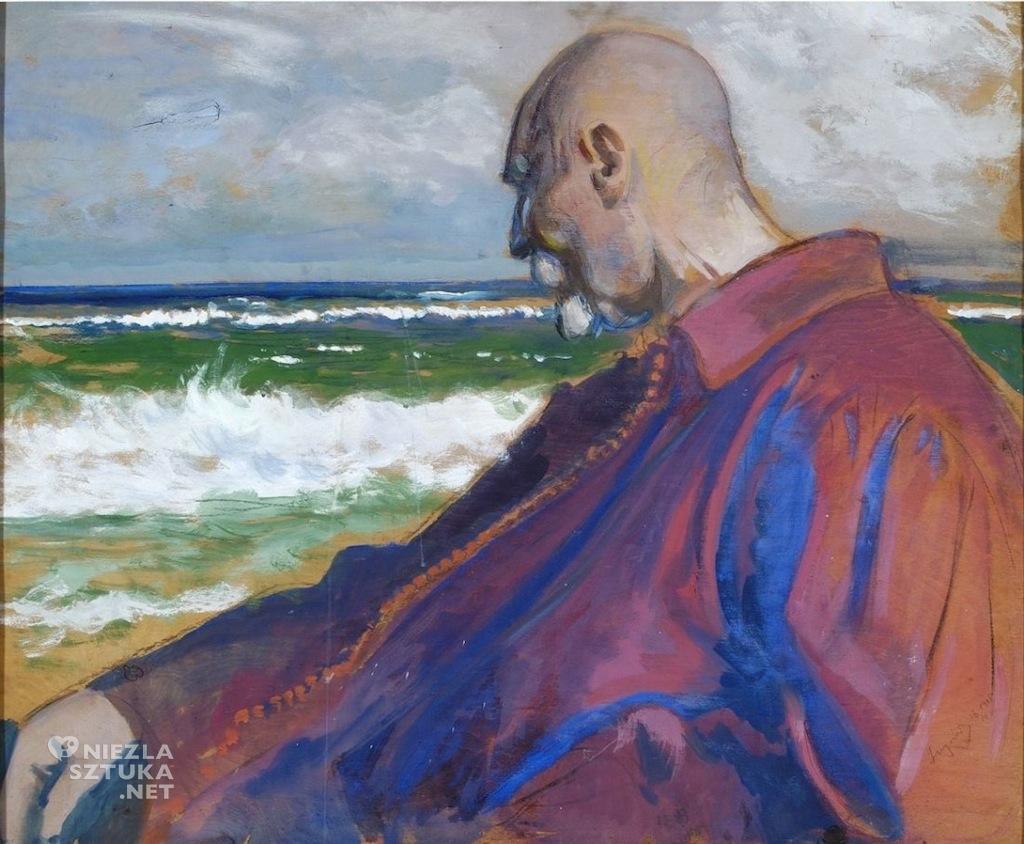Leon Wyczółkowski Autoportret na tle morza