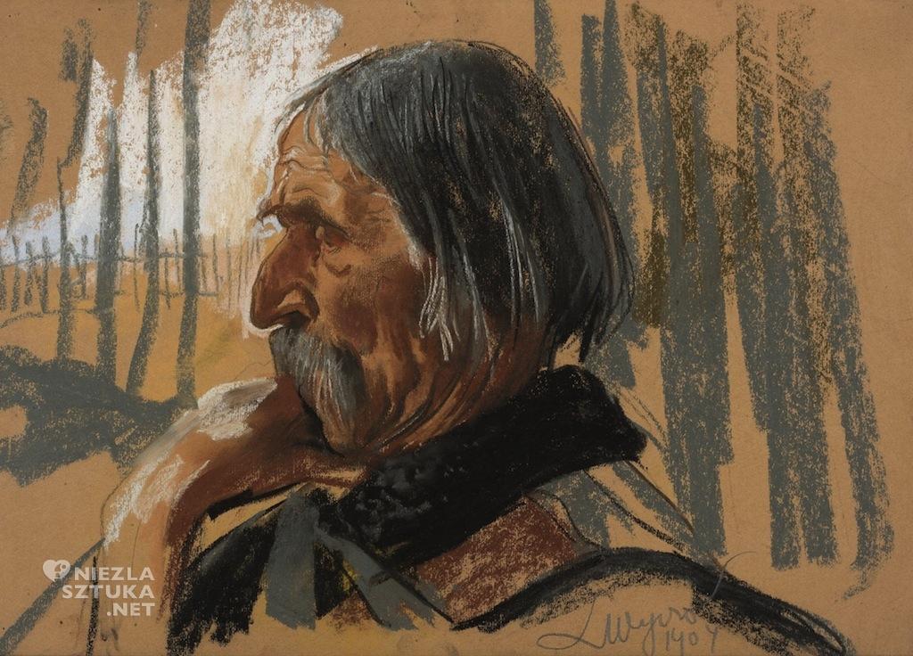 Leon Wyczółkowski Portret Szymona Tatara
