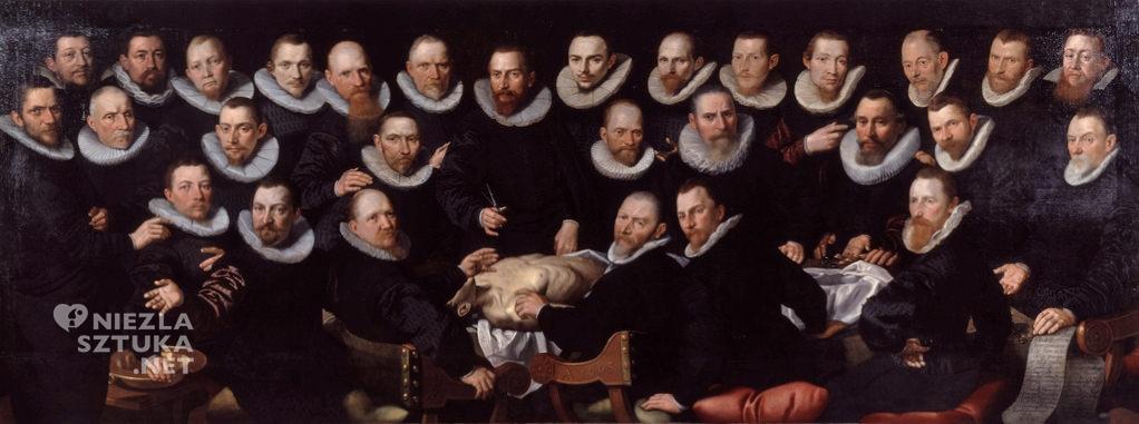 Aert Pietersz. Lekcja anatomii doktora Sebastiaena Egbertsz.'a de Vrija | 1603, olej na płótnie, 147x392 cm, Amsterdams Historisch Museum