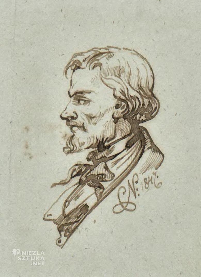 Cyprian Kamil Norwid Autoportret rzymski | 1847, Biblioteka Jagiellońska