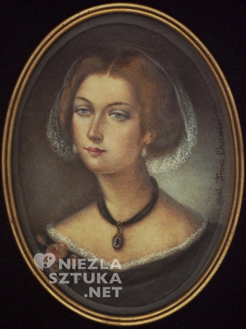 Anna Chamiec Maria Kalergis-Muchanow wg akwareli Dellesserta, miniatura | 1983, w zbiorach Muzeum Fryderyka Chopina w Warszawie