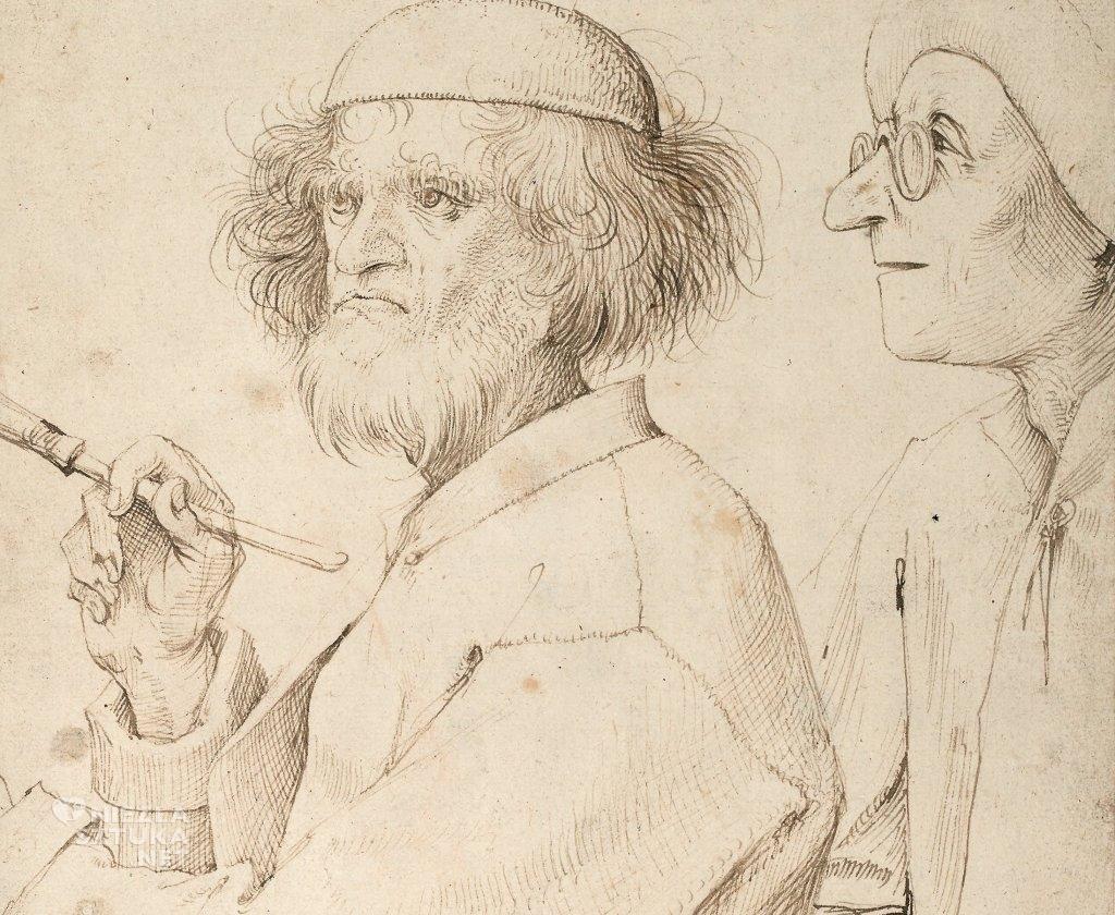 Pieter Bruegel Starszy Malarz i kupiec (koneser) | ok. 1565, (prawdopodobnie autoportret Bruegel'a), Albertina, Wiedeń
