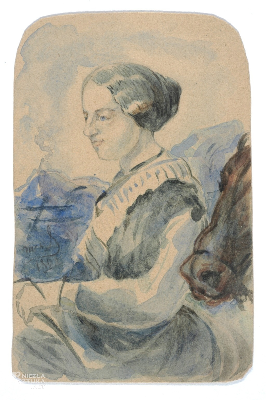 Cyprian Kamil Norwid Portret Marii Trębickiej | 1870, źródło: POLONA