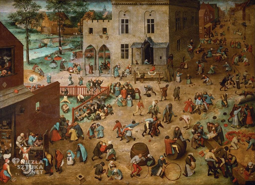Pieter Bruegel Starszy Zabawy dziecięce | 1560, Kunsthistorisches Museum, Wiedeń