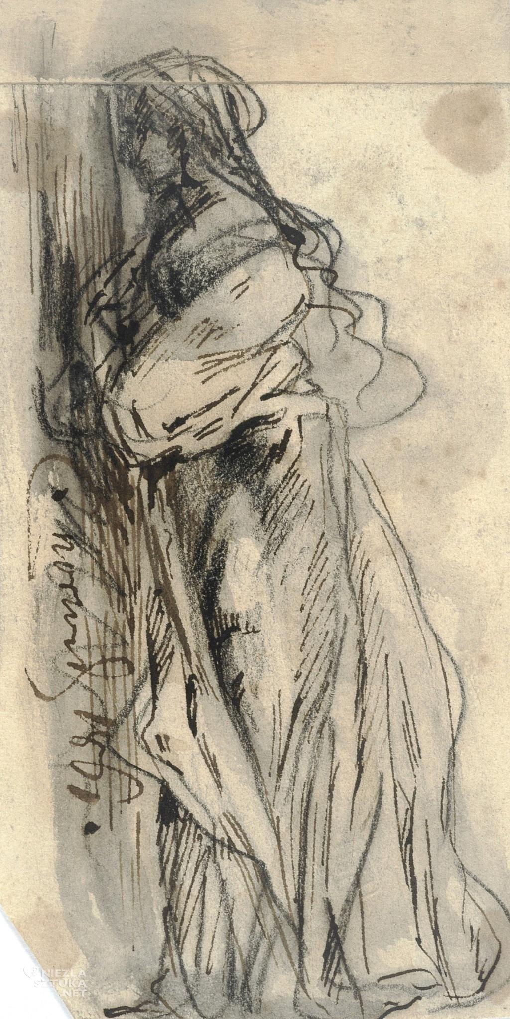 Cyprian Kamil Norwid Szkic postaci kobieciej (Marii Kalergis) | 1861, źródło: POLONA