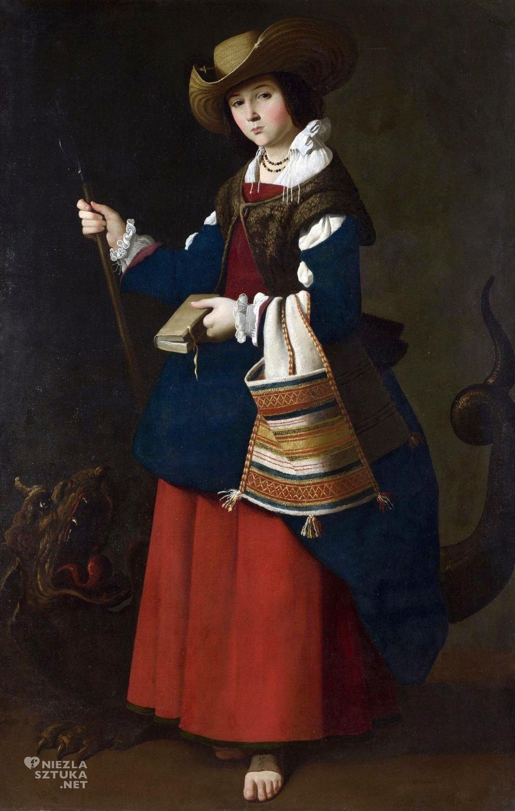 Francisco de Zurbarán Małgorzata Antiocheńska | 1630-34, National Gallery, Londyn