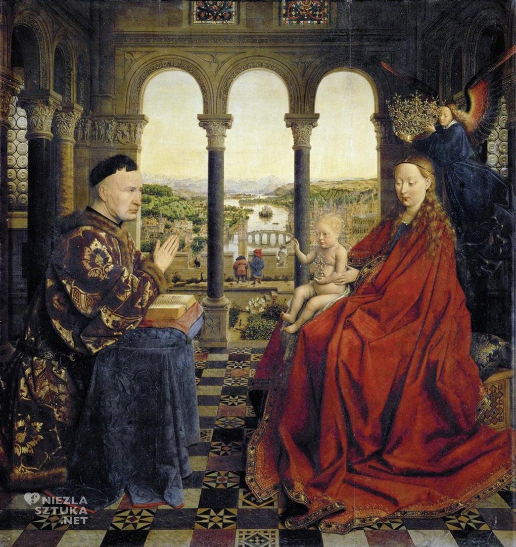 Jan van Eyck, Madonna kanclerza Rolina, ok. 1435, olej na desce, 66 × 62 cm, Luwr, Paryż