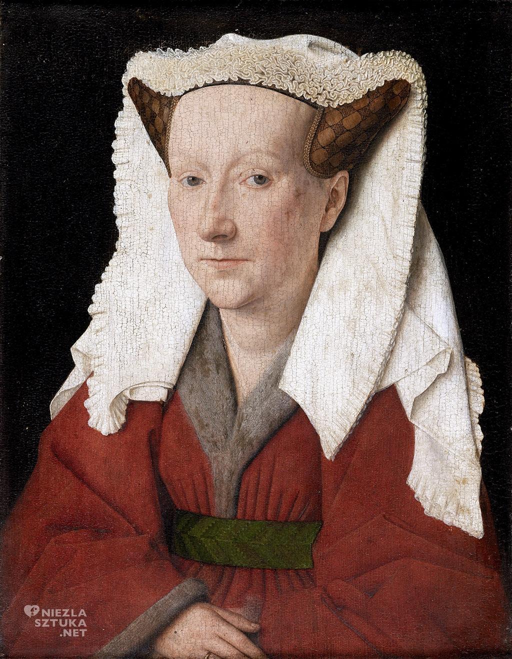 Jan van Eyck, Portret Margarety van Eyck, 1439, olej na desce, 32,6 × 25,8 cm, Groeningemuseum, Brugia