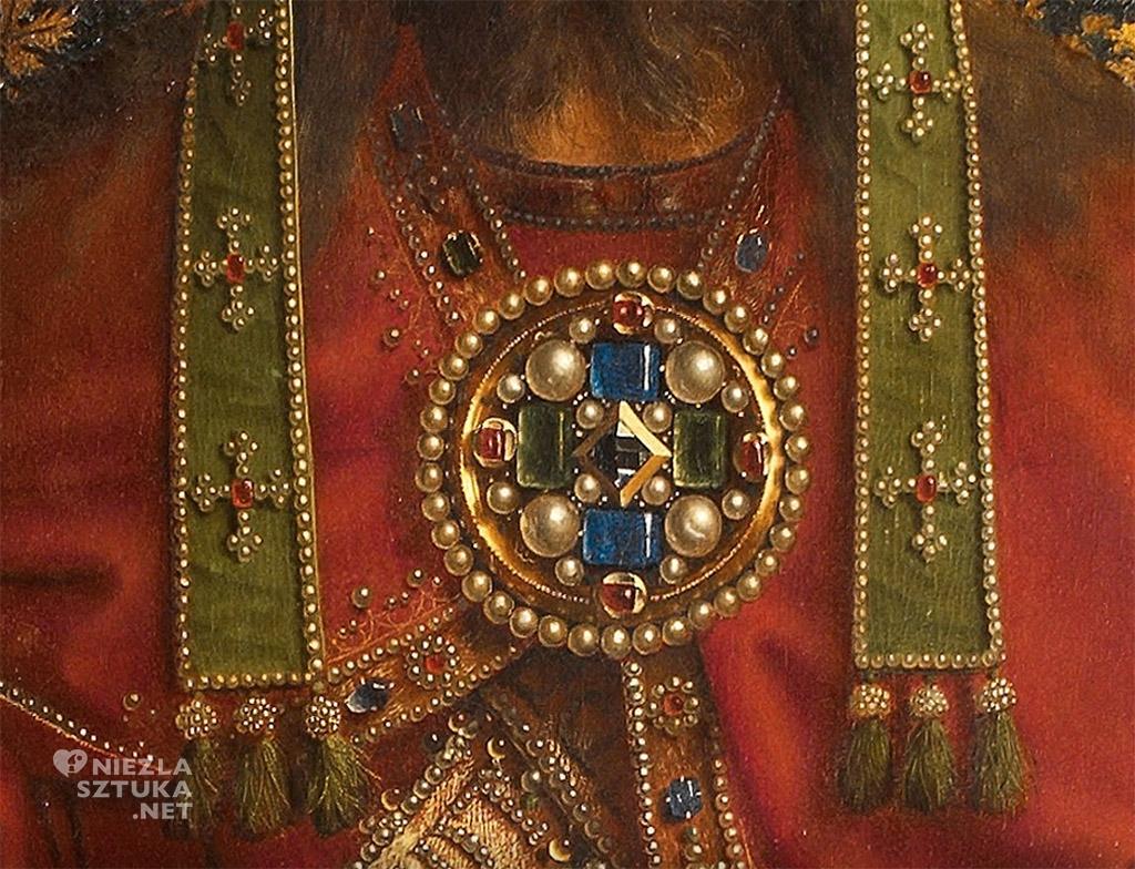 Bóg Ojciec, detal – Hubert i Jan van Eyck <em>Ołtarz Gandawski (Adoracja Mistycznego Baranka)</em>, detal, poliptyk tablicowy, 350 × 500 cm, Katedra Świętego Bawona, Gandawa<br /> © www.lukasweb.be
