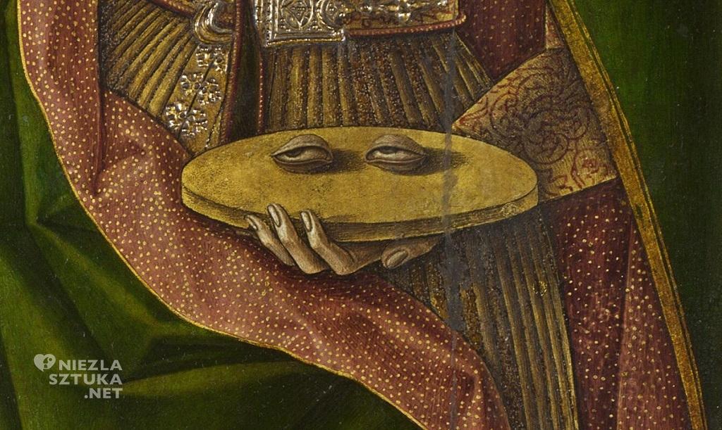 Carlo Crivelli Święta Łucja, detal | ok. 1476, The National Gallery, Londyn