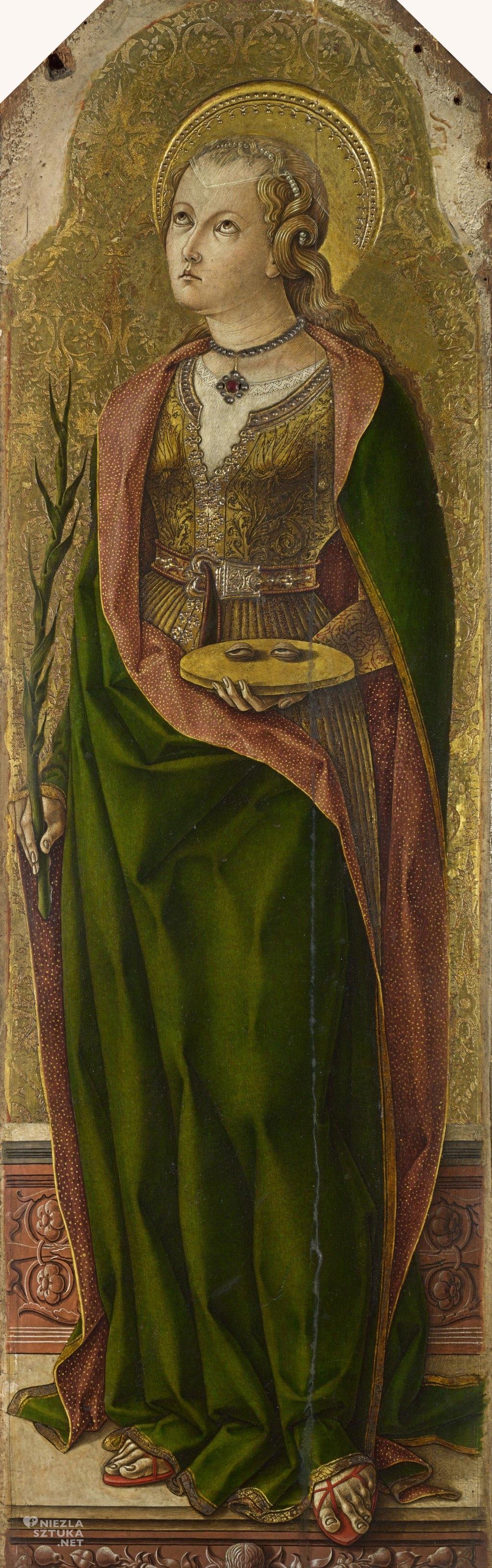 Carlo Crivelli Święta Łucja | ok. 1476, The National Gallery, Londyn