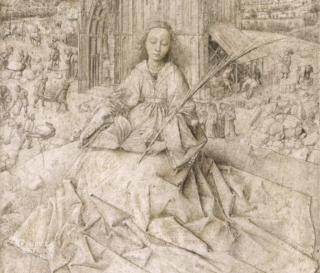 Jan van Eyck Św. Barbara