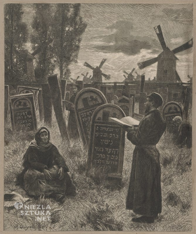 Aleksander Gierymski Na cmentarzu starozakonnych