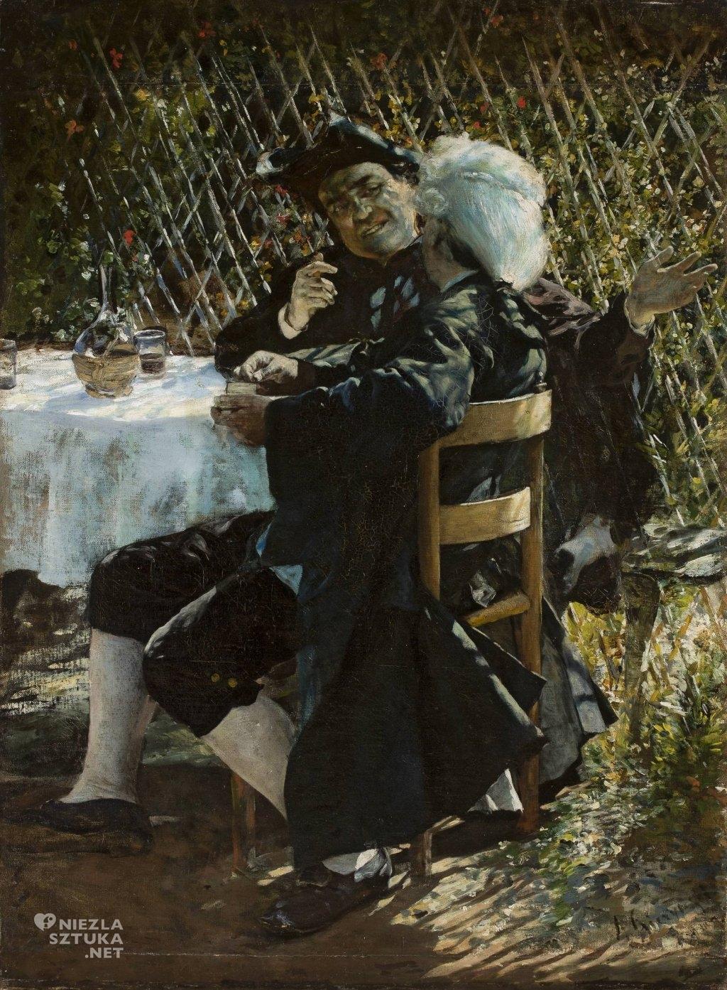 Aleksander Gierymski Ksiądz w rozmowie z panem we fraku