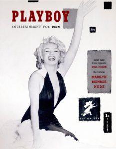 Okładka Playboy'a z 1953 roku, źródło: theredlist.com