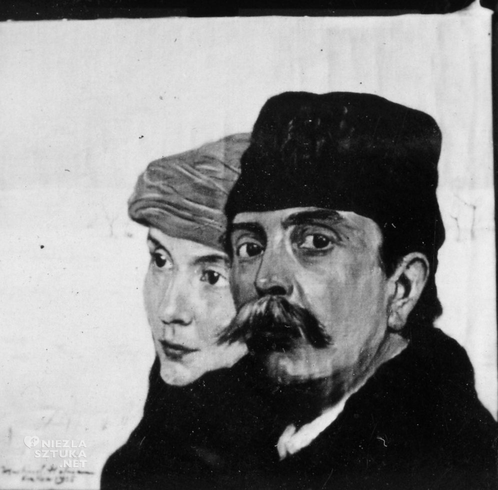 Autoportret z Adą | Kraków 1918, fot. pochodzi z publikacji W Szklarskiej Porębie wszystkie drogi prowadzą do Wlastimilówki