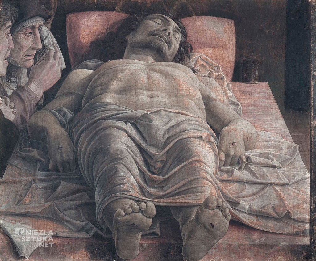 Andrea Mantegna Opłakiwanie zmarłego Chrystusa
