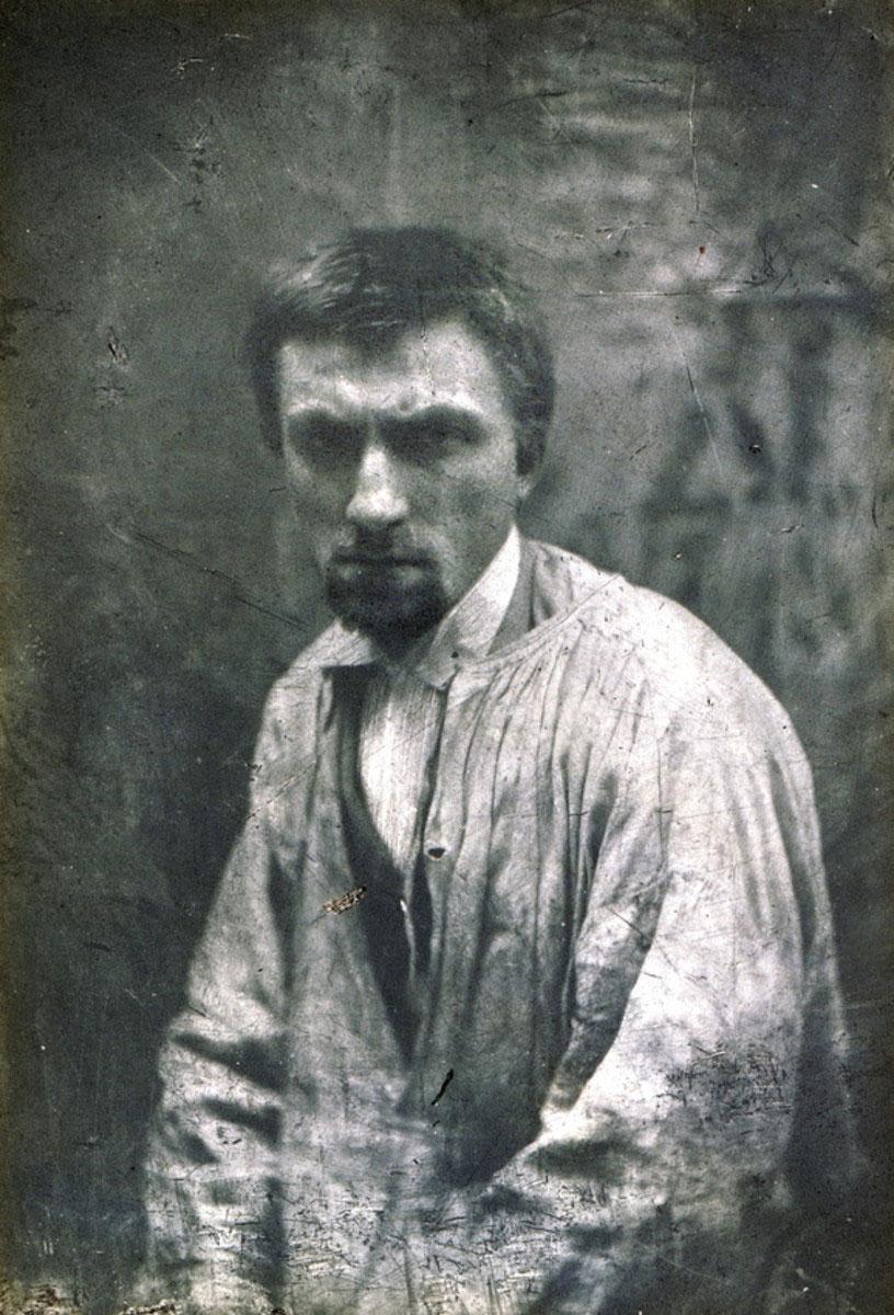 Auguste Rodin, ok. 1862, fot. Charles Hippolyte Aubry, źródło : pinterest