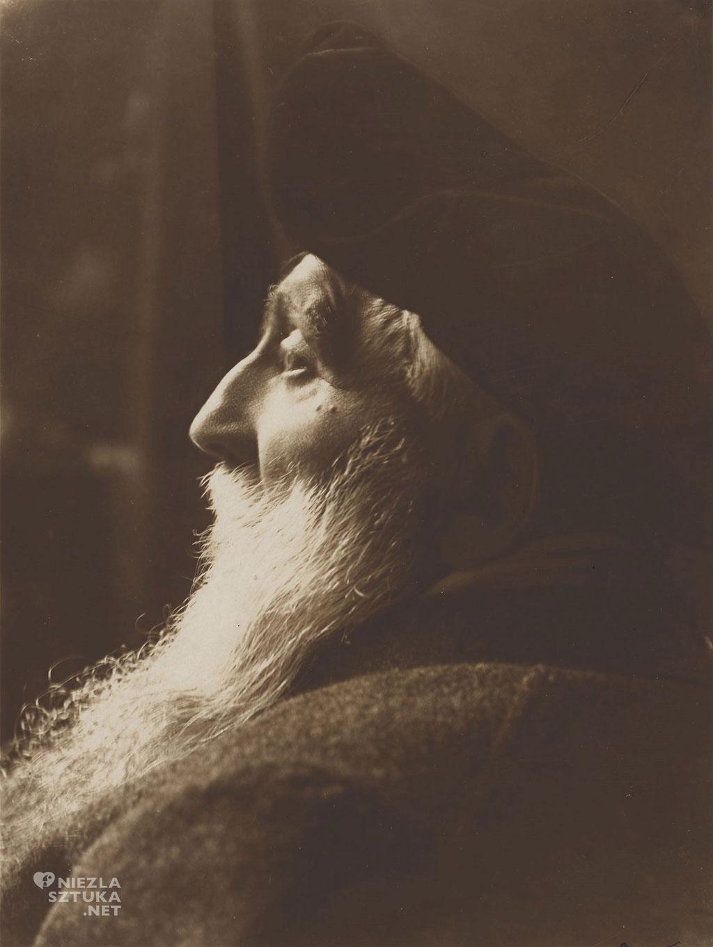 Auguste Rodin (z profilu), fot. Pierre Choumoff, 1917, źródło : artnet.fr
