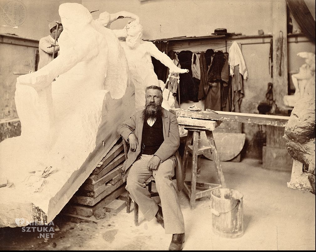 Rodin w atelier, fot. Dornac, archives Larousse, Paryż