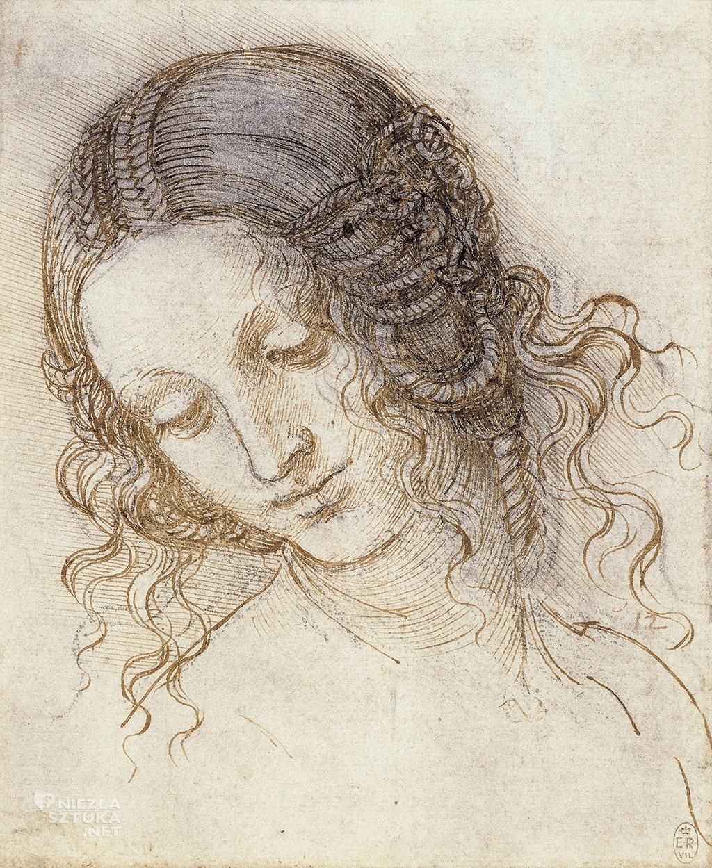 Leonardo da Vinci, Głowa Ledy, 1505