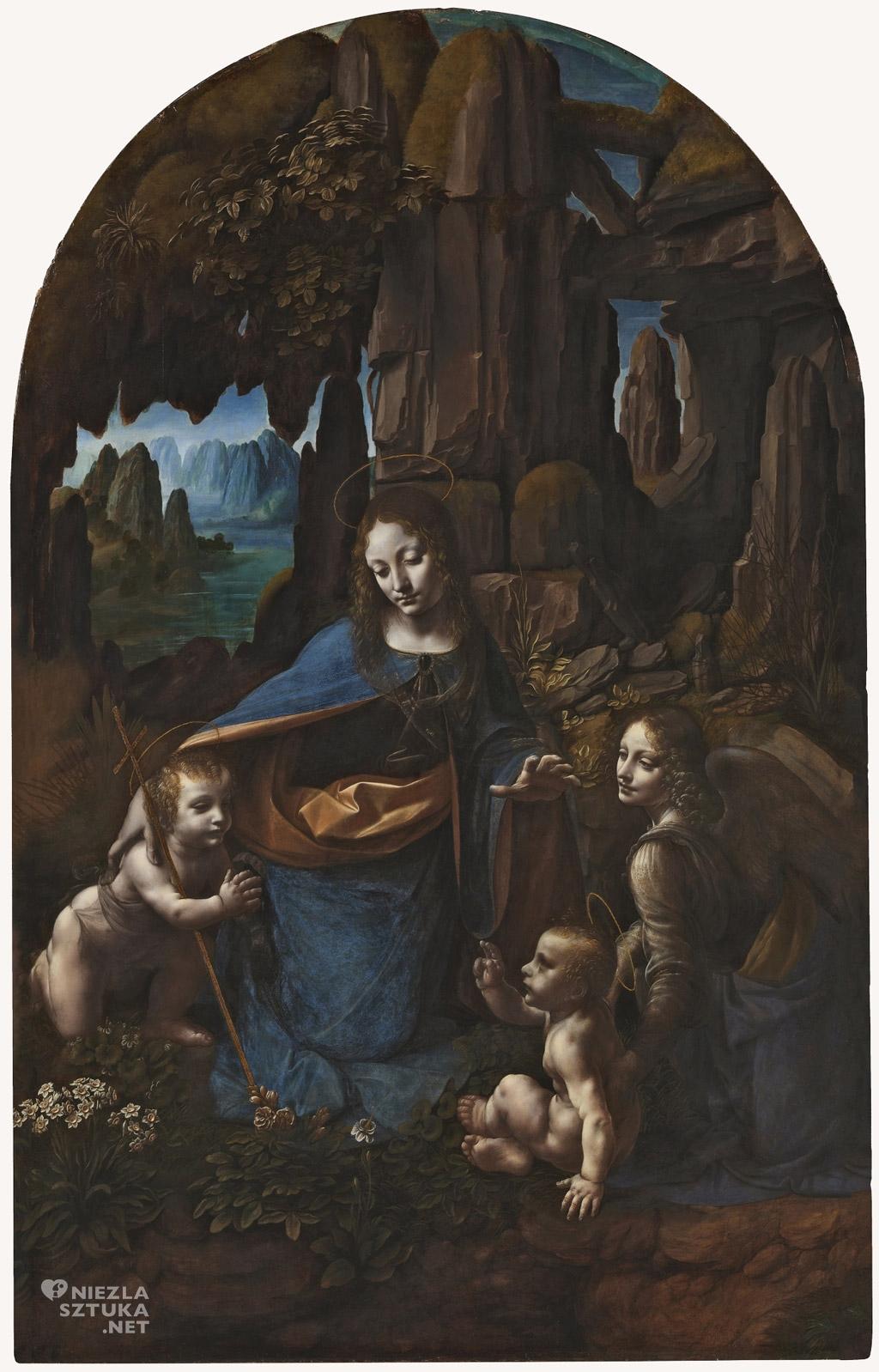 Leonardo da Vinci Madonna wśród skał, ok. 1491-9 i 1506-8, National Gallery Londyn