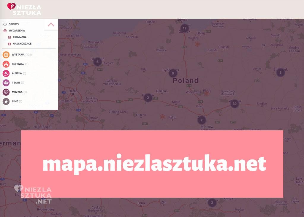 mapa sztuki mapa muzeów