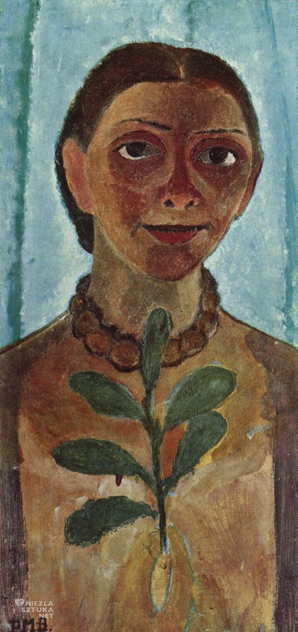 Paula Modersohn-Becker, Autoportret , niemieckie malarstwo, ekspresjonizm, Niezła sztuka