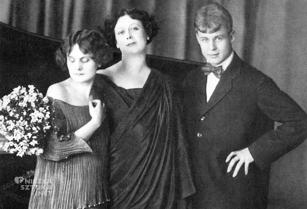 Od lewej : Irma Duncan (adoptowana córka Isadory), Isadora Duncan, Siergiej Jesienin, źródło: pinterest