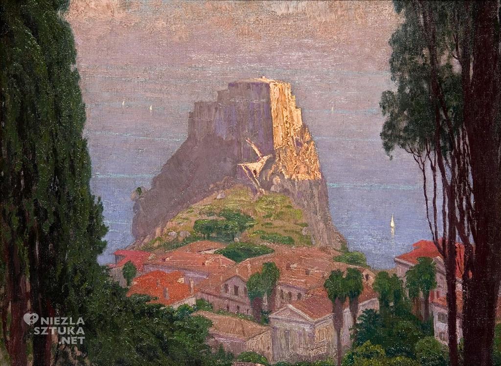Edward Okuń, Pejzaż włoski | 1902, Muzeum Pałac Herbsta w Łodzi
