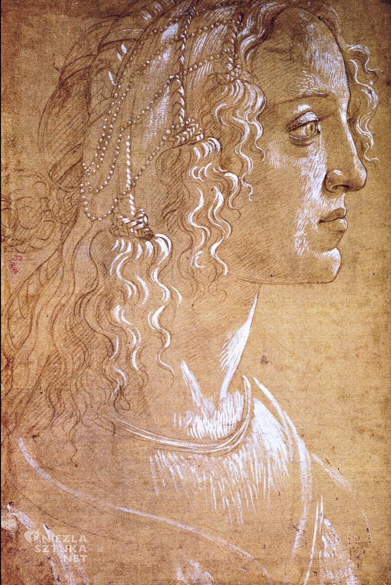Sandro Botticelli, Simonetta Vespucci | 1476 Oxford Ashmolean Museum
