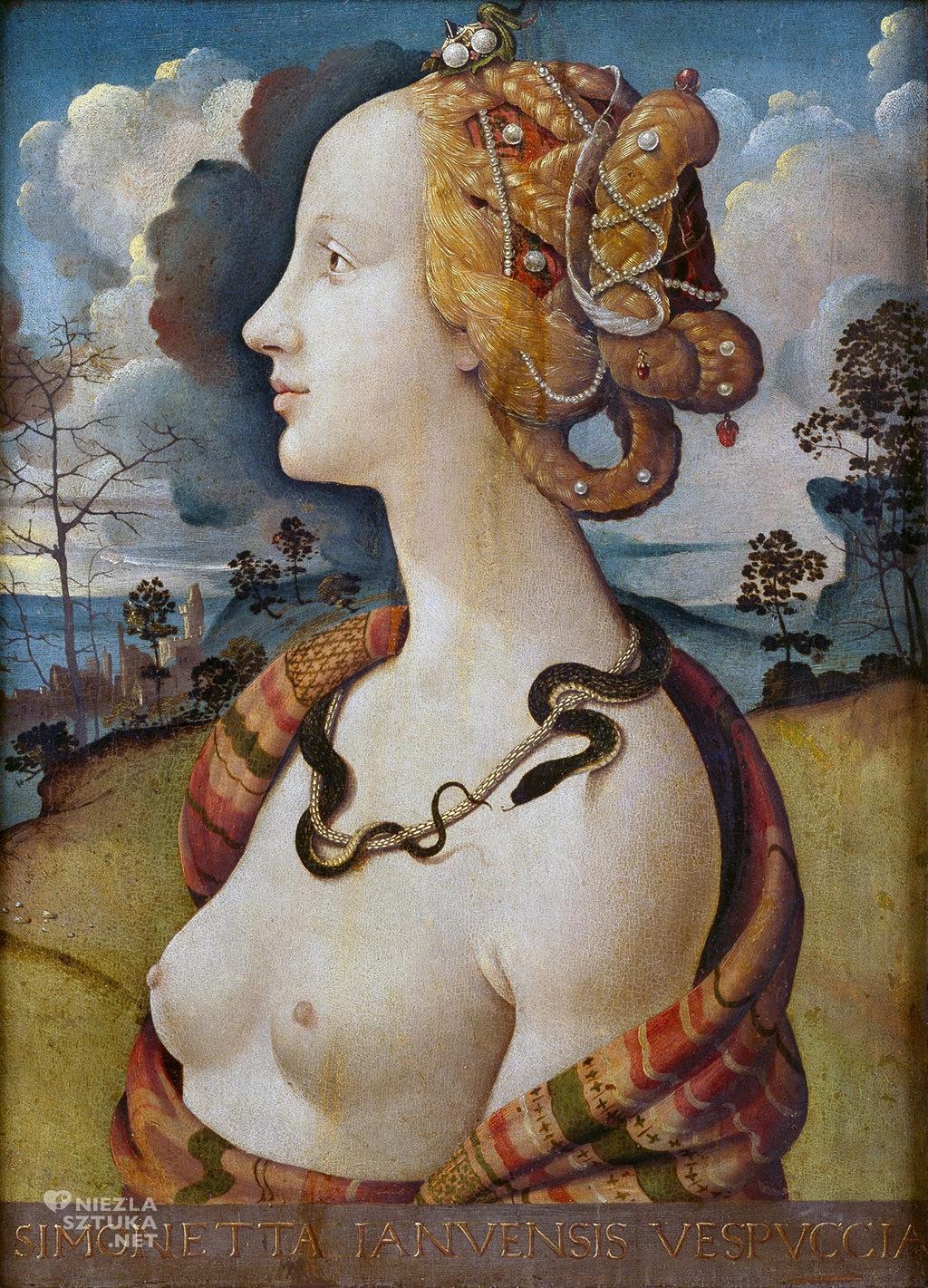Piero di Cosma, Simonetta jako Kleopatra |ok. 1490, Château de Chantilly