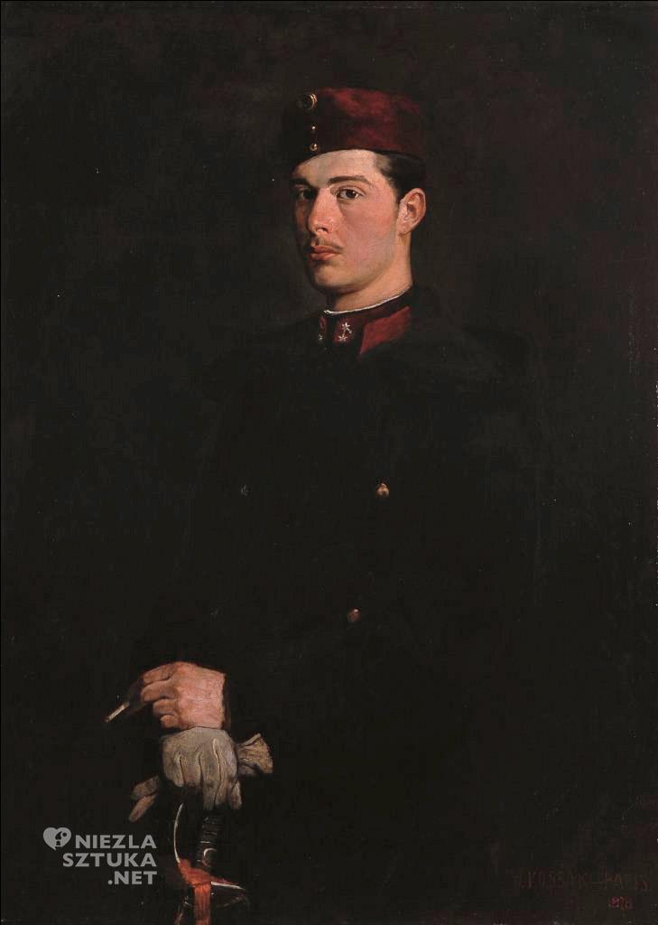 Wojciech Kossak Autoportret w mundurze ułańskim