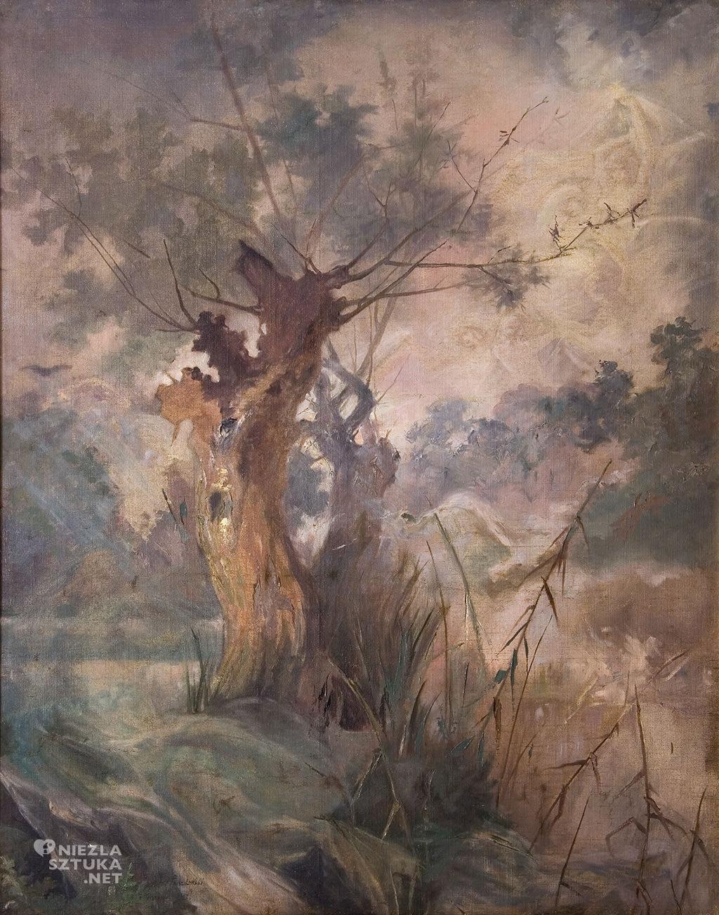 Witold Pruszkowski, Wierzby nad moczarami | 1887, olej, płótno, Muzeum Pałac Herbsta, Oddział Muzeum Sztuki w Łodzi